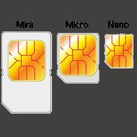 Sim-korts storlekar – Tre olika storlekar av sim-kort